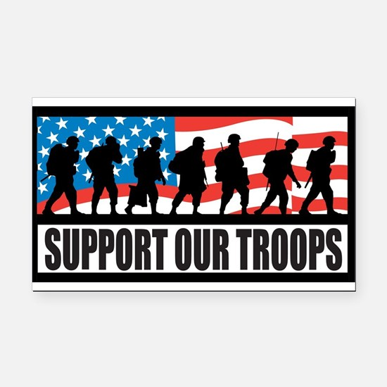 Support our troops - Infantry Rectangle Car Magnet