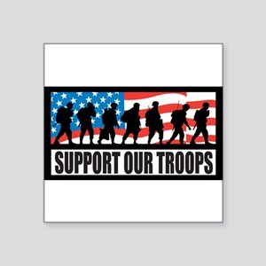 Support our troops - Infantr Square Sticker 3&quot