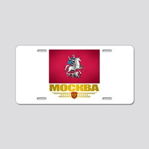 Moscow Flag Aluminum License Plate