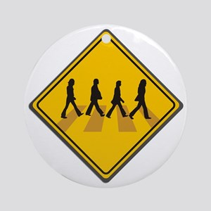 Abbey Road Xing Ornament (Round)