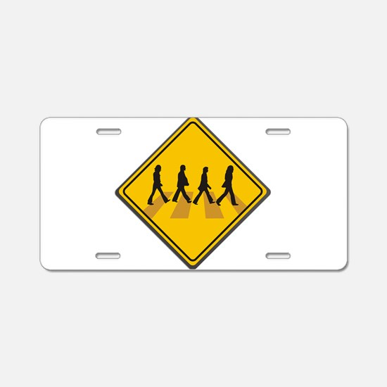 Abbey Road Xing Aluminum License Plate