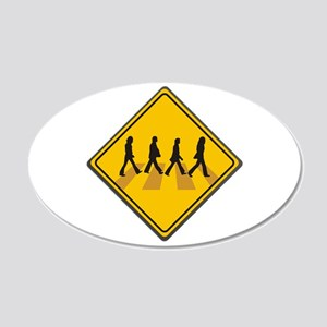 Abbey Road Xing 22x14 Oval Wall Peel