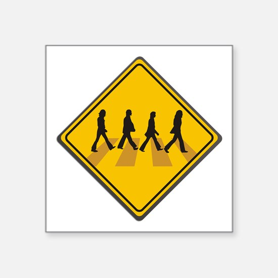 "Abbey Road Xing Square Sticker 3"" x 3"""
