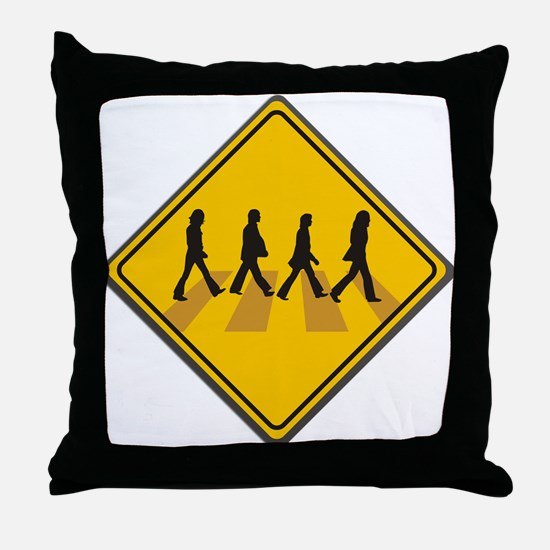 Abbey Road Xing Throw Pillow