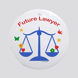 Future Lawyer Ornament (Round)