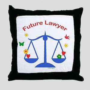 Future Lawyer Throw Pillow