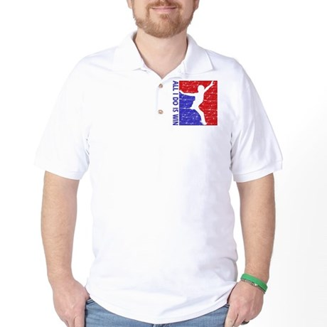 All I do is win Figure Skating designs Golf Shirt