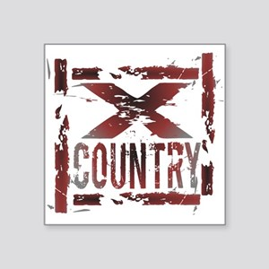 Cross Country Square Sticker 3in x 3in