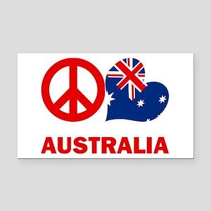 Peace Love Australia Rectangle Car Magnet