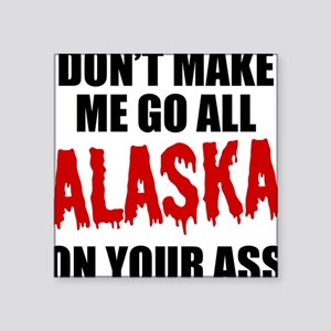 "alaska Square Sticker 3"" x 3"""