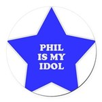 3-star-phil Round Car Magnet