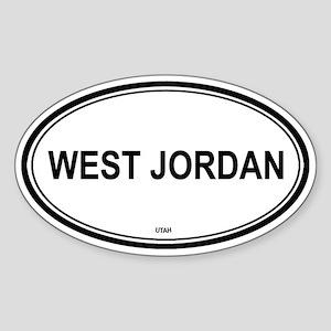 West Jordan (Utah) Oval Sticker