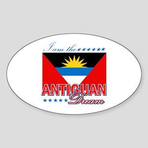 I am the Antiguan Dream Sticker (Oval)