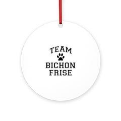 Team Bichon Frise Ornament (Round)