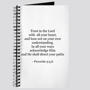 Proverbs 3:5,6 Journal
