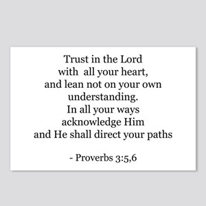 Proverbs 3:5,6 Postcards (Package of 8)