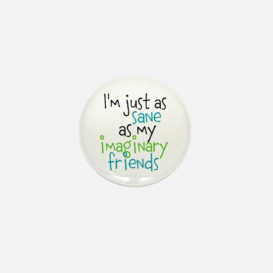 Cute Imaginary friends Mini Button