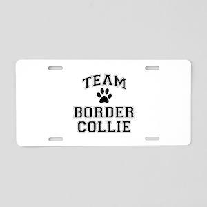 Team Border Collie Aluminum License Plate