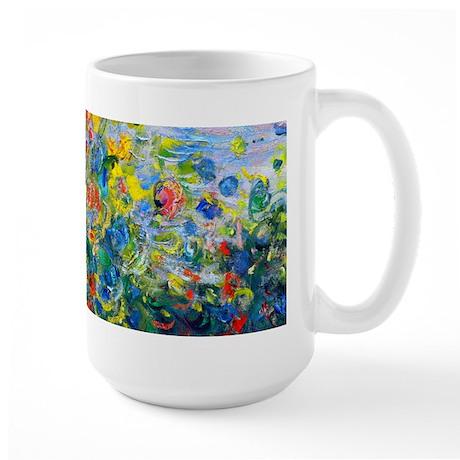 Monet - Flower Beds Large Mug
