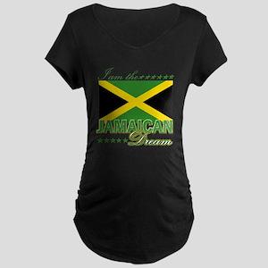 I am the Jamaican Dream Maternity Dark T-Shirt