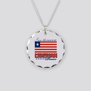 I am the Liberian Dream Necklace Circle Charm