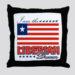 I am the Liberian Dream Throw Pillow