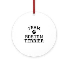 Team Boston Terrier Ornament (Round)