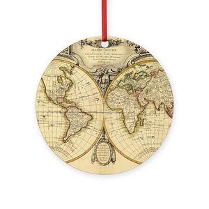 Antique world maps ornaments cafepress gumiabroncs Images