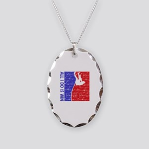 All I do is win Pole Vault designs Necklace Oval C