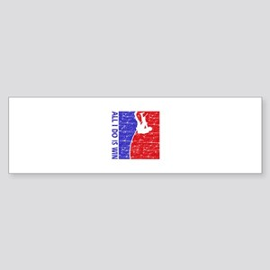All I do is win Pole Vault designs Sticker (Bumper