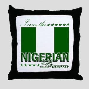 I am the Nigerian Dream Throw Pillow