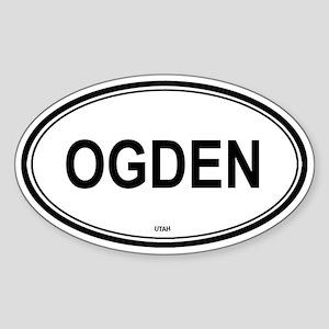 Ogden (Utah) Oval Sticker