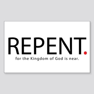 Repent Sticker (Rectangle 10 pk)