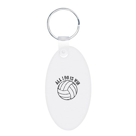 All I do is win Volleyball designs Aluminum Oval K