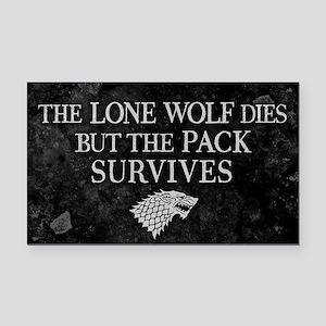 GOT Lone Wolf Dies Rectangle Car Magnet