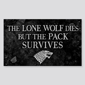 GOT Lone Wolf Dies Sticker