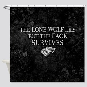 GOT Lone Wolf Dies Shower Curtain