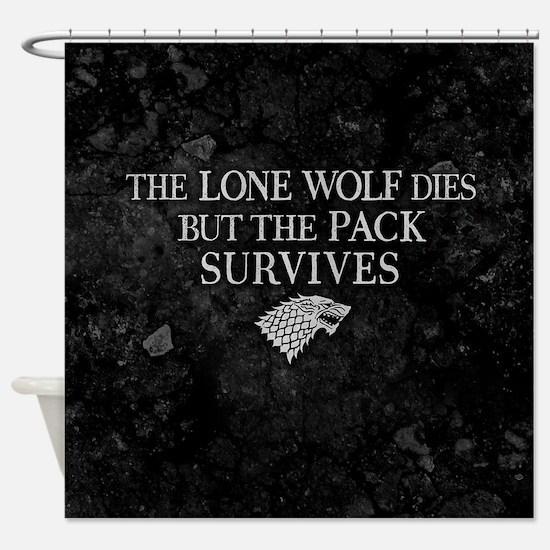 GOT Lone Wolf Dies Shower Curtain
