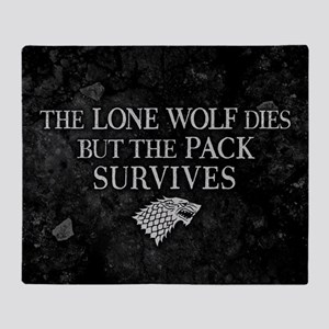 GOT Lone Wolf Dies Throw Blanket