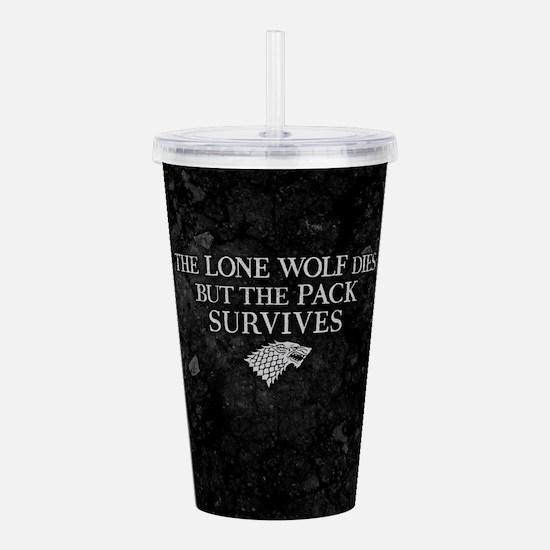GOT Lone Wolf Dies Acrylic Double-wall Tumbler