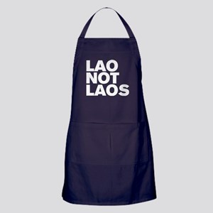 LAO NOT LAOS WHITE Apron (dark)