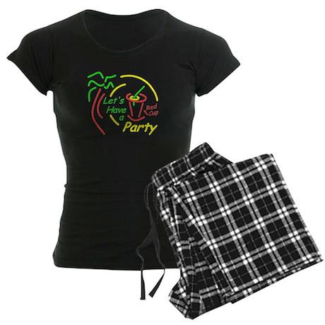 Lets Party Women's Dark Pajamas