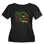 Lets Party Women's Plus Size Scoop Neck Dark T-Shi