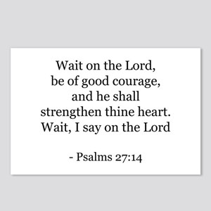 Psalms 27:14 Postcards (Package of 8)