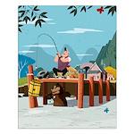 Fishing For Treasure Small Poster