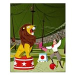 Circus Lion Small Poster