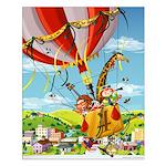 Hot Air Balloon Rid Small Poster