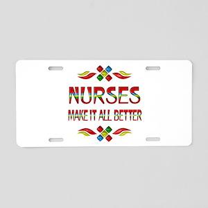 Nurses Aluminum License Plate