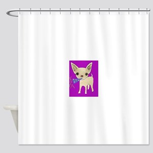 celebrate purple Shower Curtain