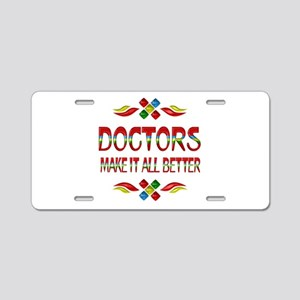 Doctors Aluminum License Plate